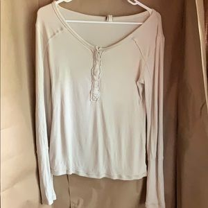 Free People, We The Free, Long Sleeve, Henley Top